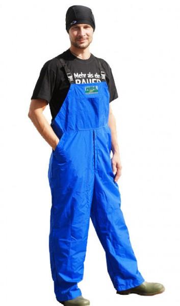 WAHL-Hausmarke MELKER-LATZHOSE wasserdicht, blau
