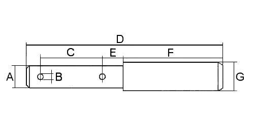 Oberlenkerstufenbolzen Kat.2-3