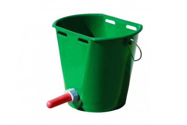 WAHL-Hausmarke Kälbertränkeeimer Kunststoff, dunkelgrün