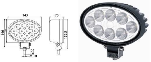 LED-Arbeitsscheinwerfer 19W = 1520Lumen