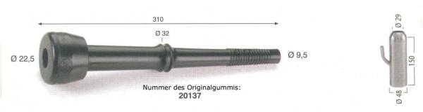 WAHL-Hausmarke FULLWOOD Mod. 20138 , pass. lang