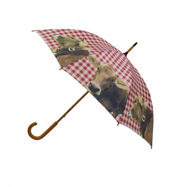 """Regenschirm """"Alpenkuh''"""