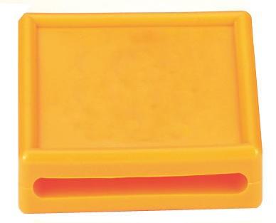 WAHL-Hausmarke Nummernblock 1-stellig, blanko in gelb