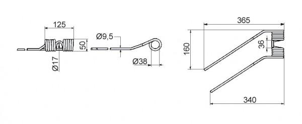 Zinken - Niemeyer für HR-Modelle links