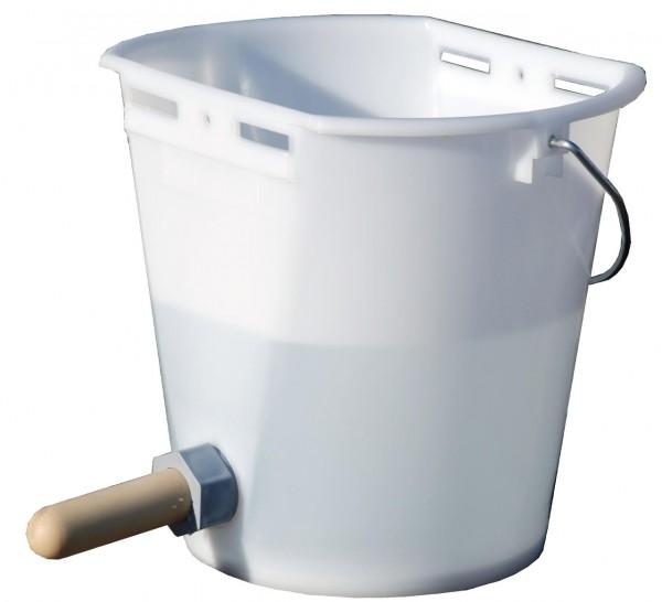 WAHL-Hausmarke Kälbertränkeeimer Kunststoff weiß/transp