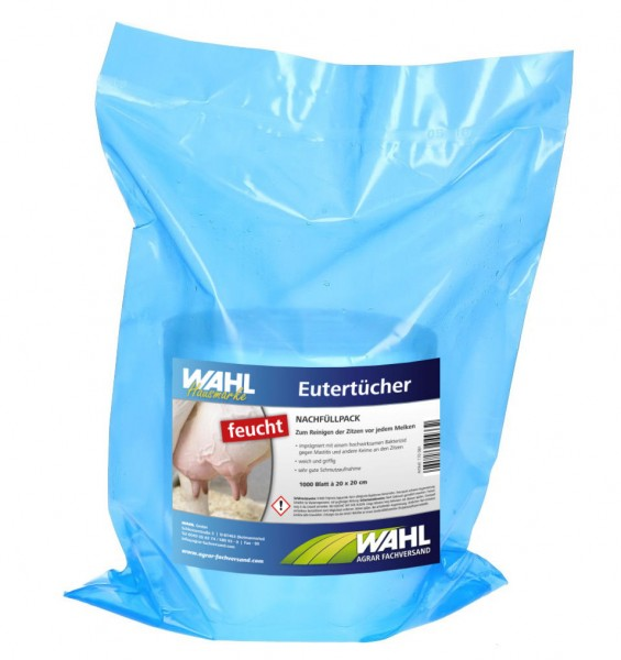WAHL-Hausmarke Eutertücher feucht, 1000 Blatt im Beutel